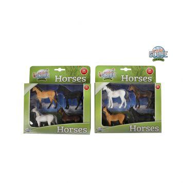 Paardenset 4 Delig Kids Globe 2 Assorti 1:32