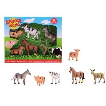 Boerderij Dieren Animal World  6 Assorti In Doos