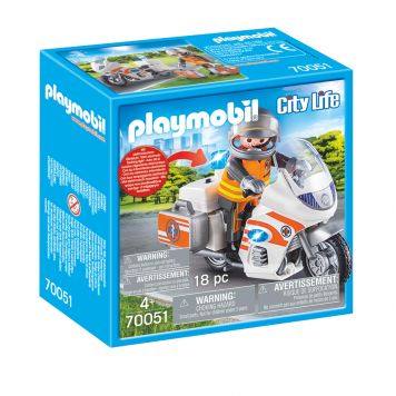 Playmobil 70051 Spoedarts Op Motor