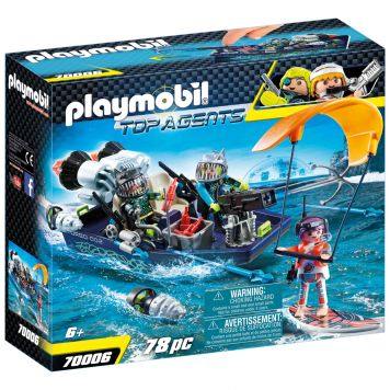 Playmobil 70006 Team S.h.a.r.k. Harpoenboot