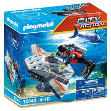 Playmobil 70145 Redding Op Zee: Duikscooter In  De Reddingsmissie