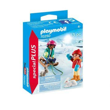 Playmobil 70250 Kinderen Met Slee