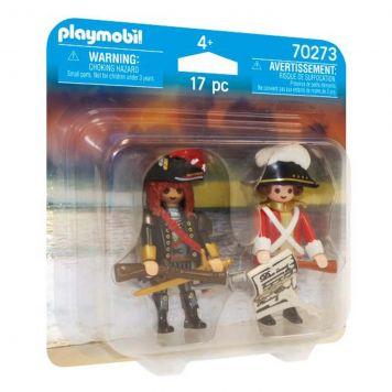 Playmobil 70273 DuoPack Piratenkapitein En Roodroksoldaat