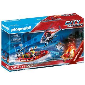 Playmobil 70335 Brandweer Helikopter En Boot