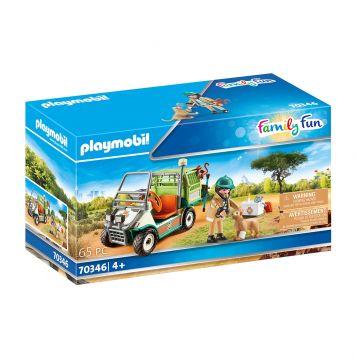 Playmobil 70346 Dierenverzorger Met Voertuig