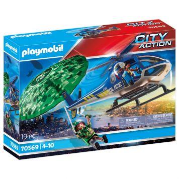 Playmobil 70569 Politiehelikopter: Parachute- Achtervolging