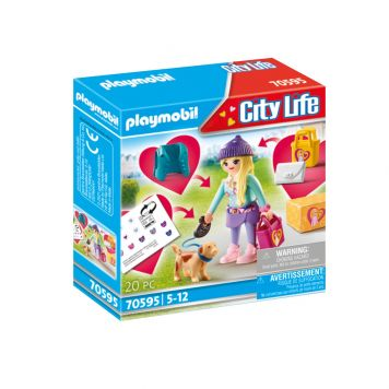 Playmobil 70595 City Modemeisje Met Hond