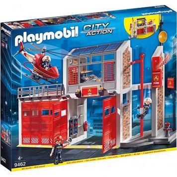 Plamobil 9462 Grote Brandweerkazerne Met  Helikopter