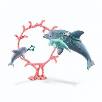 Schleich 41463 Dolfijnmoeder  Met Babies