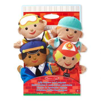 Handpoppen Jolly Helpers 4 Stuks