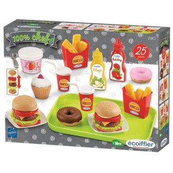 Voedsel En Snackset Op Dienblad 25 Delig