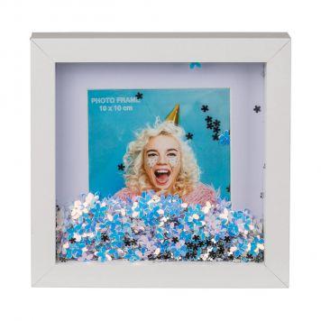 Fotolijst Bloem Glitters 10X10 Cm