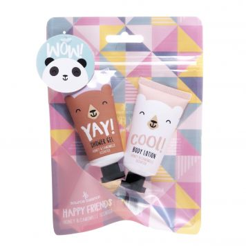 Bad Giftset Mini Showergel Bodylotion Happy Friends