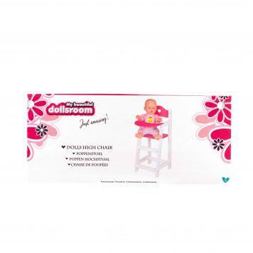 Poppenmeubel Poppenstoel Wit 22 X 27 X 53 Cm