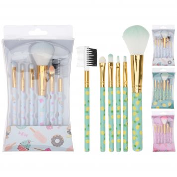 Penselenset Make-Up 6 Stuks Zomers 3 Assorti