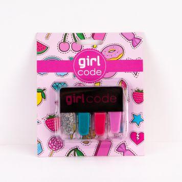 Girl Code Nagellak Set 4 Stuks