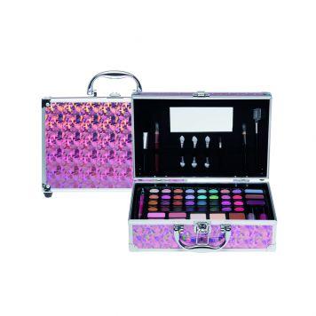 Casuelle Make-Up Koffer Roze Multi