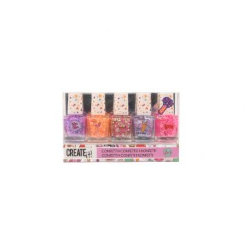 Create It! Nagellak Set Confetti 5 Stuks