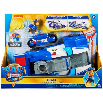 Paw Patrol The Movie - Chase's Voertuig Deluxe