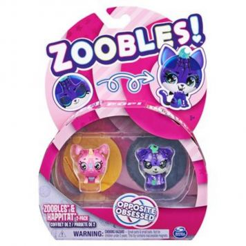 Zoobles 2 Pack Unicorn And Tiger