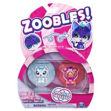 Zoobles 2 Pack Bear And Pup