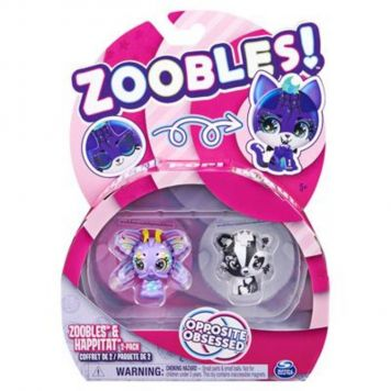 Zoobles 2 Pack Butterfly And Fox