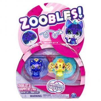 Zoobles 2 Pack Llama And Elephant