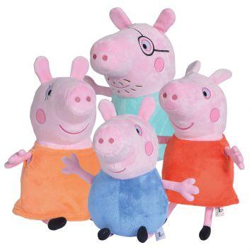 Peppa Pig Pluche Knuffel 4 Assorti