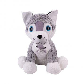 Hond Pluche Met Pup 80cm