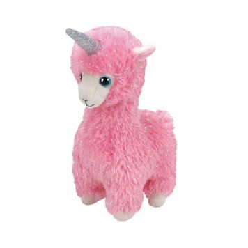 Ty Lana Pink Llama W/Horn - Beanie Babie