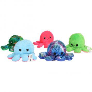 Pluche Knuffel Octopus Omkeerbaar Assorti Fidget