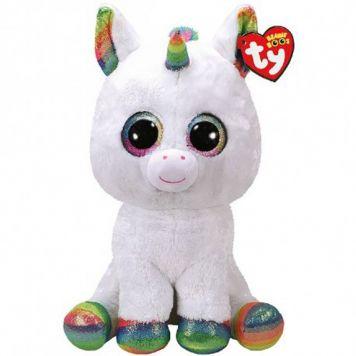 Ty Beanie XL Witte Eenhoorn Pixy 42 Cm