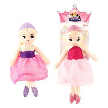 Stofpop Prinses 35cm 2 Assorti