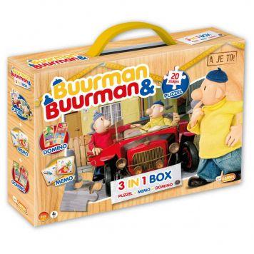 Buurman En Buurman 3 In 1 Box Puzzel, Memo en Domino