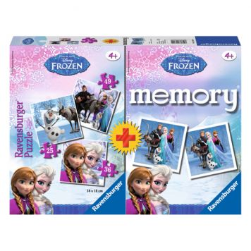 Spel Memory + Puzzel Frozen