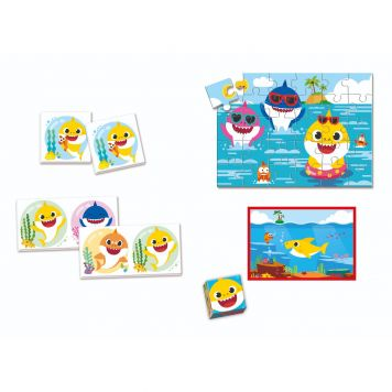 Spel Educatief kit 4 in 1 Baby Shark Clementoni