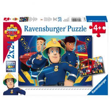 Puzzel Brandweerman Sam: Sam Helpt Je Uit De Brand 2x24 Puzzelstukjes