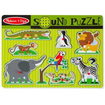 Puzzel Hout Met Geluid - Dierentuindieren