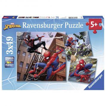 Ravensburger Puzzel Spider-Man In Actie 3x49 Stukjes