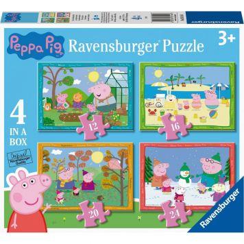 Ravensburger Puzzel Peppa Pig 4 Seizoenen 12+16+20+24 stukjes