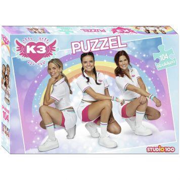 K3 Dromen Puzzel Met Poster Sportoutfit 104 Stukjes