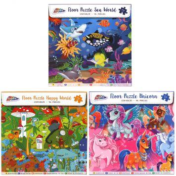 Puzzel Oceaan-Unicorn-Happy 96 Stukjes 3 Assorti