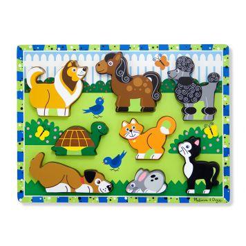 Puzzel Hout - Huisdieren