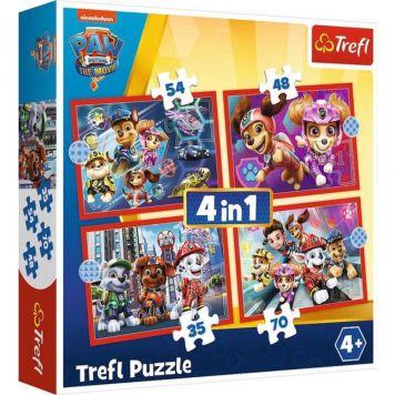 Trefl Paw Patrol the Movie 4 in 1 Puzzel