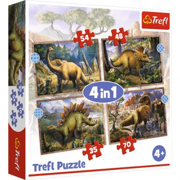 Puzzel 4 In 1 Dino