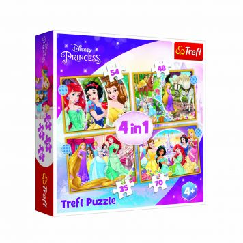 Disney Princess Puzzel 4 In 1 Happy Day