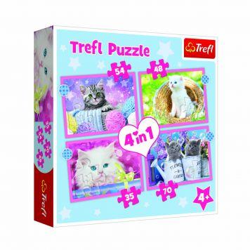 Puzzel 4 in 1 Schattige Kittens