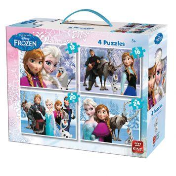 Puzzel Disney Frozen Koffertje 4-in-1