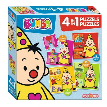 Bumba Puzzel 4 In 1