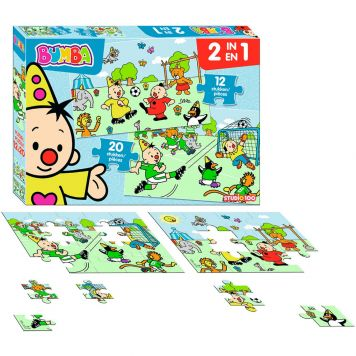 Bumba 2 In 1 Puzzel Voetbal 12ST-20ST
